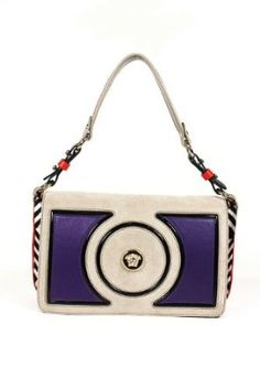 Versace Handbags Velvet and Leather Multi Color DBFD094