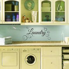 Laundry Room Wall Decal - Custom Wall Decal for Laundry Room, Wall Decor by SnappysVinyl on Etsy https://www.etsy.com/listing/208282406/laundry-room-wall-decal-custom-wall
