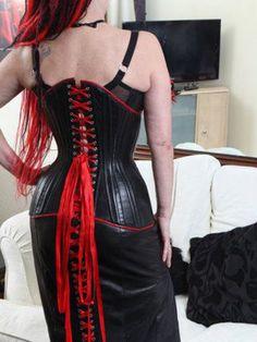 Joy corset - ribbon detail.