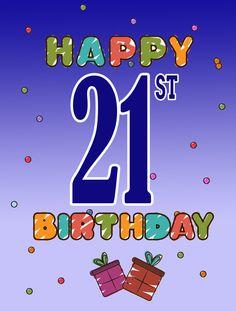 Happy 21st Birthday 2-Sided Garden Flag