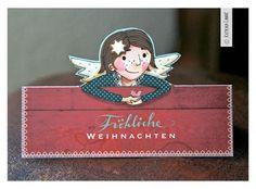 """3 x Bastel-Postkarte """"Engel"""""""