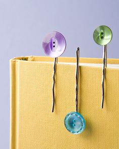 So simple - just glue buttons onto blank pins. I'll be making these today!