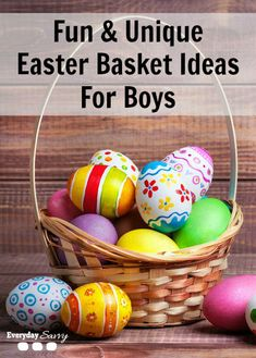 Fun & Unique Easter Basket Ideas for Boys. Lots of unique non-candy options if you are filling a DIY basket for boys.