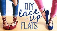 Afbeeldingsresultaat voor lace up flats diy Diy Lace Flats, Diy Lace Up, The Sorry Girls, Diy Vetement, Clothes Crafts, Diy For Girls, Diy Clothing, Thigh High Boots, Diy Fashion