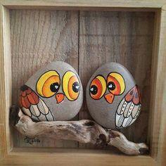 Dieren tekenen op stenen