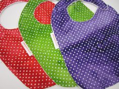 Bib Set, Polka Dot Batik cotton