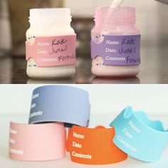Writable Reusable labels for Daycare baby bottle labels Write Erase  Reuse GREAT FOR DAYCARE Breast Milk Formula and Milk 4 bands and free dry erase marker *** Read more  at the image link.Note:It is affiliate link to Amazon.