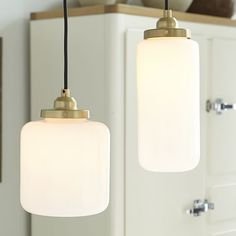 Glass Jar Pendant - Milk | West Elm (to replace the 12$ ones I put in the kitchen when I built it!)