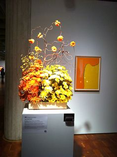 Art in collaboration with flowers at the Milwaukee Art Museum's Art in Bloom event.