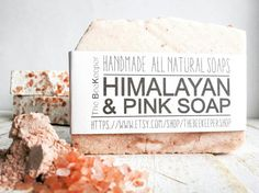 Pink Himalayan Soap Salt Bar Himalayan Salt by TheBEEKEEPERshop