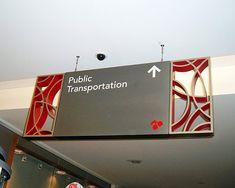 metal framing hanging sign wayfinding