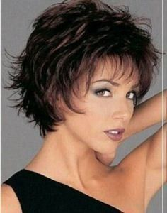 product image Short Hair Styles Layers, Short Choppy Layered Hair, Shorter Layered Haircuts, Short Haircuts, Short Shag, Sassy Haircuts, Layered Bobs, Short Wavy, Pixie Styles