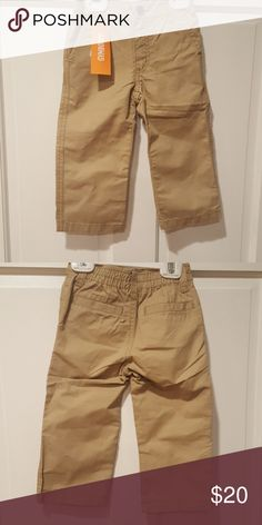 Gymboree beige pants 18-24 months Beige pants with front and back pockets, elastic waist in the back and button in front 18-24 months Gymboree Bottoms Casual