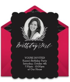 Lovely online birthday invitation with a fancy design. Beautiful way to invite friends and family to a classy 30th birthday party. Personalize and send to friends and family via email.