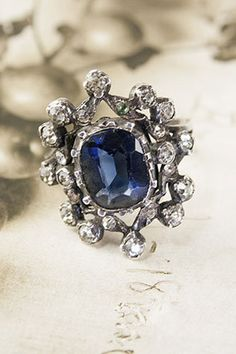 Erica Weiner Blue and White Paste Cocktail Ring $550, available at Erica Weiner.