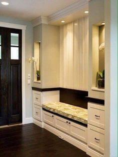 Clever Sitting And Storage Cabinet #Storageideas #Storagecabinet