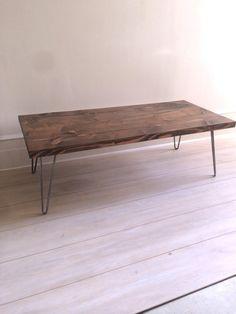 Hairpin Coffee Table, Coffee Table, Reclaimed Coffee, Wood Coffee Table, Rustic Coffee Table, Hairpin Leg Coffee, Rustic Hairpin Table