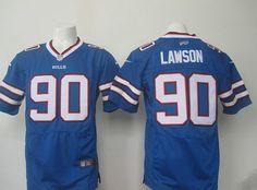 Men's Buffalo Bills #90 Shaq Lawson Royal Blue Team Color NFL Nike Elite Jersey