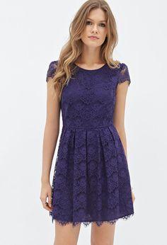 Eyelash Lace A-Line Dress