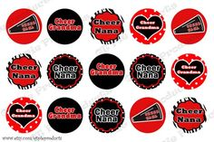 cheer boltele capes | Inspired Cheer Nana Grandma 1 inch circle bottle cap collage image ...