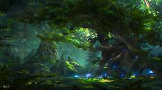 forest, ATEC (Min Gyu Lee) on ArtStation at https://www.artstation.com/artwork/KyeXG