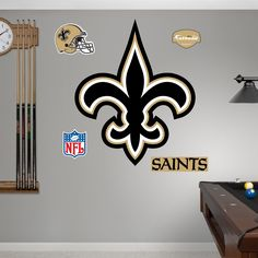 Saints Wall Logo perfect for the football fan in your life  http://www.overstock.com/9252094/product.html?CID=245307