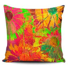 Cojin Decorativo Tayrona Store Flores Colores - $ 43.200