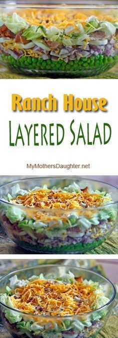"""My """"Ranch House Layered Salad"""" has been a family favorite for years. I first made it back in the early 80's and it was a recipe that was given to me by someone from Wichita, Kansas."""