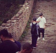 justin en la muralla china...............