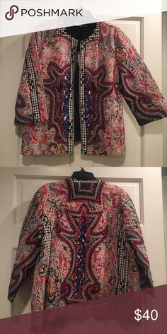 NWT Zara Embroidered Jacket NWT Gorgeous Zara Embroidered and Embellished jacket.  3/4 sleeves.  Lined.  Size Large.  From Zara's premium collection Zara Jackets & Coats