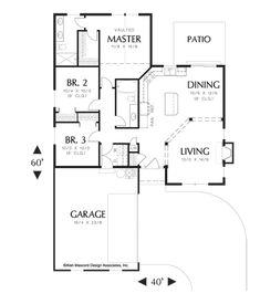 Image for Wyndley-Quaint, Comfortable Ranch Plan-Main Floor Plan