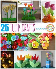 #Manualidades de tulipanes vía @4kidsactivities // 25 Tulip Crafts for Kids