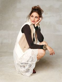 Olivia Palermo dressed in a chic & dainty ensemble.
