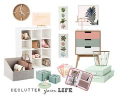 """No Clutter Heart Flutter"" by belleaumelo on Polyvore featuring interior, interiors, interior design, home, home decor, interior decorating, StudioSarah, Selamat, Bigso and Sass & Belle"