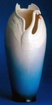 "Franz Swan Vase 8"" x 8"" x 17 1/4"""