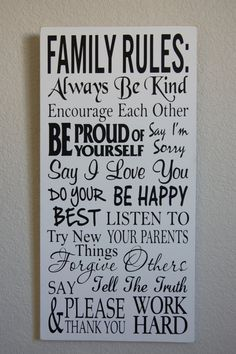 Family Rules-Custom Sign-House Rules Sign-Housewarming by PhraseIt