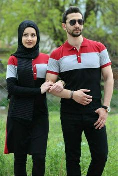Fashion Couple, Girls Fashion Clothes, Fashion Outfits, Sporty Outfits, Trendy Outfits, Couples African Outfits, Cute Muslim Couples, Matching Couple Outfits, Printed Sweatshirts