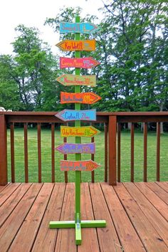 Custom Directional Sign Post With Stand (Add-on) Backyard Signs, Pool Signs, Backyard Play, Backyard For Kids, Diy For Kids, Tiki Bar Signs, Vintage Beach Signs, Beach Signs Wooden, Case Creole