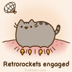 The Mars Curiosity Kitty  Retrorockets engaged