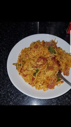 Spicy Masala Noodles recipe by Faranah Dawood posted on 11 May 2018 . Recipe has a rating of by 1 members and the recipe belongs in the Miscellaneous recipes category Halal Recipes, Indian Food Recipes, Real Food Recipes, Ethnic Recipes, Yummy Food, Vegetarian Fast Food, Maggi Recipes, Malay Food, Food Snapchat