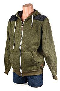 Pánska olivovo zelená mikina Benter s kapucňou  Športová olivovo zelená mikina so zapínaním na zips a s kapucňou na šnúrky. Mikina je podšitá flisom, má patenty na rukávoch aj naspodu a na lakťoch má ochranný patchwork tmavej sivej farby.  http://www.yolo.sk/panske-mikiny/panska-zelena-mikina-benter-s-kapucnou