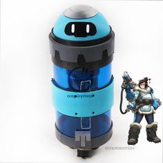 Overwatch OW Dr. Mei Ling Zhou Weather Modification Drone Backpack Cosplay Weapon Prop