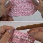 Crochet Baby Booties With Pearls - Crochet - Tutorials Crochet Baby Booties, Crochet Slippers, Crochet Hats, Crochet Strawberry, Yarn Store, Kids Hats, Hand Dyed Yarn, Beaded Flowers, Arm Warmers