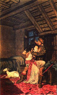 Esmeralda & Phoebus Illustartion picture image