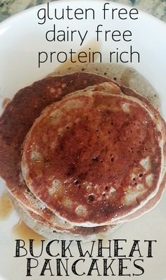 fluffy pancakes are protein rich and gluten free. They were fantastic!these fluffy pancakes are protein rich and gluten free. They were fantastic! Buckwheat Recipes, Buckwheat Pancakes, Buckwheat Bread, Oreo, Dairy Free Pancakes, Low Carb Sweeteners, Protein, Paleo Breakfast, Coconut Flour