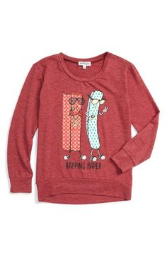 Free shipping and returns on Ten Sixty Sherman Rapping Paper Graphic Sweatshirt (Big Girls) at Nordstrom.com. Help her keep it real this holiday season with a pun-centric graphic sweatshirt that's as cozy as it is clever.