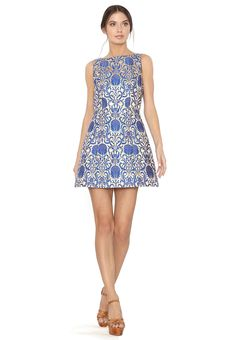 CARRIE BOATNECK STRUCTURED LANTERN DRESS by Alice + Olivia