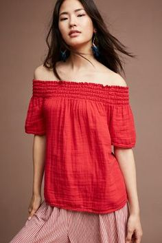 Anthropologie Smocked Off-The-Shoulder Top https://www.anthropologie.com/shop/smocked-off-the-shoulder-top2?cm_mmc=userselection-_-product-_-share-_-4110812760001