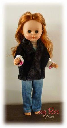 soy Ros: Chaleco en imitación de piel para Nancy y Pepa