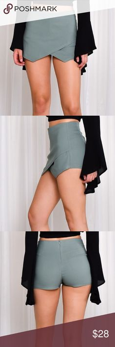 Light Olive Shorts PLEASE READ CAREFULLY** This pre order will ship to me on 07-20-17. Please allow 3-7 business days for your delivery. Thanks and don't forget to join our Facebook group for more awesome trendy boutique steals! Shorts Skorts